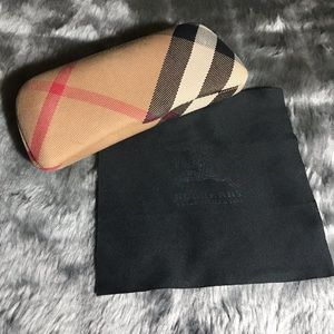 Burberry Eyeglasses Case And Cleaning Cloth